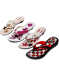 Krocs Super Comfortable Combo Pack Of 3 Pair Flip Flop With 1 Pair Slippers For Women (Pack Of 4 Pair) - B01JSEKBU2