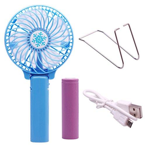 2 EN 1 Mini USB Fan,Ventiladore USB,Asnlove Ventilador USB plegable Foldable Fan pieghevole ventilatore a pile USB ricaricabile ventilatore elettrico fan,ventilatore potente e silenzioso, USB Mini ventilatori da soffitto per computer desktop-Colore Blu