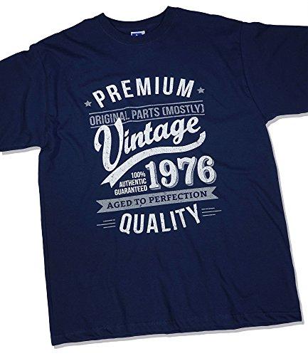 1976 Vintage Year - Aged To Perfection - Regalo di Compleanno Per 40 Anni Maglietta da Uomo Blu Marino 2XL