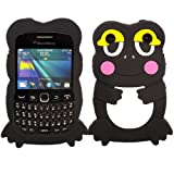 Frog Silicone Case Cover Skin For Blackberry Curve 9220 9320 / Black