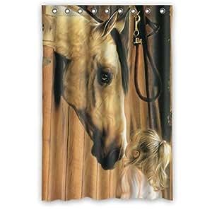 unique and generic horse shower curtain