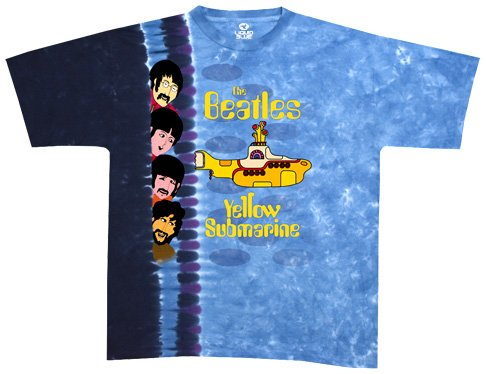Liquid Blue Men's Beatles Nowhere Man/Yellow Submarine Short Sleeve Tee,Multi,XX-Large