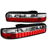 LED Tail Lights Rear Parking Lamps Red Clear For Nissan 240SX S13 Coupe 2 Door