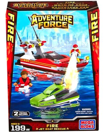 Mega Bloks Adventure Force Fire Jet Boat Rescue Set #94419