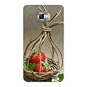 Stylish Straberry Basket Multicolor Back Case Cover for Galaxy S2