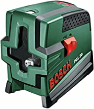 Bosch PCL 20 Kreuzlinien-Laser + Schutztasche + Wandhalterung (10 m Arbeitsbereich, Lotfunktion)
