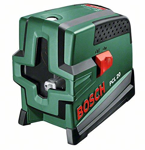 Bosch-DIY-Kreuzlinien-Laser-PCL-20-Batterien-Universalhalterung-Schutztasche-Arbeitsbereich-10-m-05-mmm-Messgenauigkeit