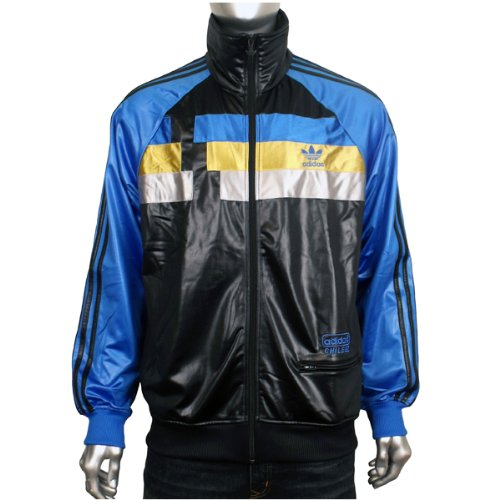 Mens Adidas Originals Chile 62 Panel TT Black Blue Track Suit Top Jacket S