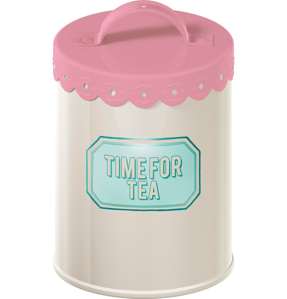 Creative Tops Retro Treats Pink Tea Storage Tin 0
