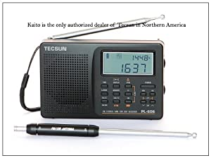 Tecsun PL-606 Digital PLL Portable AM/FM Shortwave Radio with DSP, Black