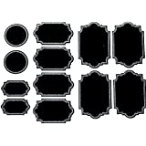 Firefly Craft Chalkboard Labels for Spice Jars and Organizing, Variety 60 Pack