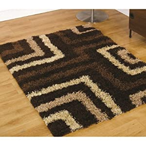 6 Sizes Available - Nordic - Tides Brown - Good Quality Shaggy Rug by Flair Rugs