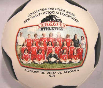 """NC-GREENSBORO Fans - Customize YOUR Spartans Soccer Ball - We can print your favorite photo, logo, and text message on our signature balls in FULL color."""