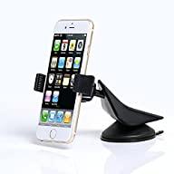 Zilu Car Mount Dashboard and Windshield Phone Holder Car Accessories for iPhone, Samsung, LG, Nexus,…