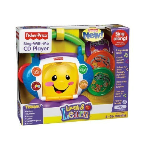 Toy / Game Fisher-Price Laugh & Learn Sing-with-Me CD Player (N8904) with activate lights, phrases and songs