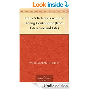 Editor's Relations with the Young Contributor (from Literature and Life)
