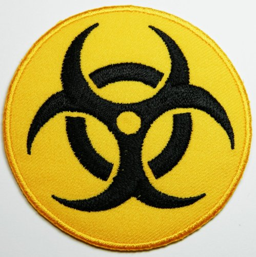 Toppa Biohazard Symbol Sign Danger Poison Toxic Warning Patches style04