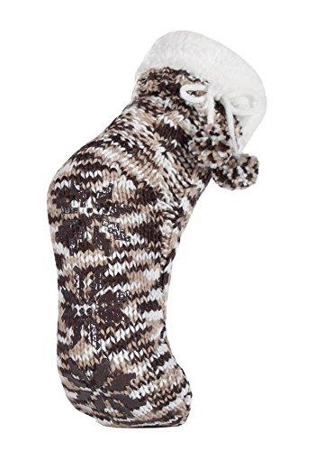ja-donna-pelliccia-sintetica-maglia-indoor-pantofole-bootie-con-antiscivolo-e-cute-pompon-in-6-color