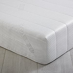 "Foam2Go® - 3FT Single 20cm (8"") - Deluxe MaxiCool Zoned Memory Foam Mattress - 90cm x 190cm x 20cm - Including FREE Quilted Removable Washable Cover"