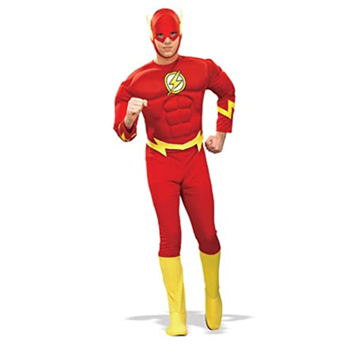 Rubies Costume Dc Heroes and Villains Collection Deluxe Muscle Chest Flash Costume
