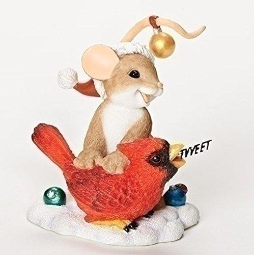 Charming Tails 30398 Sending You a Merry Christmas TWEET bird figurine