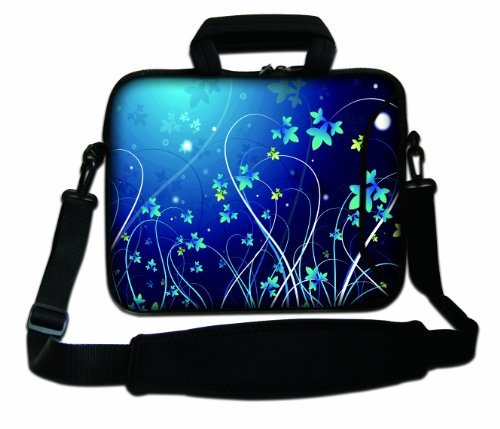"17"" 17.3"" 17.4"" Inch Blue Swirl Design Neoprene Notebook Laptop Soft Bag Sleeve Case Cover Pouch With Adjustable Shoulder Strap For Apple Macbook Pro 17 /Hp Envy 17 Series/ Pavilion Dv7/Dv7T/G72/G72T/G7T/M7 Series / Dell Inspiron 17 17R I17Rm I17Rv Xps 17 front-153700"