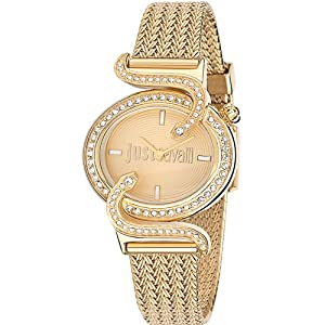 Just Cavalli r7253591501 35mm Gold Steel Bracelet & Case Mineral Women's Watch