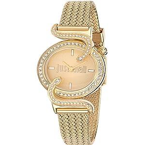 Just Cavalli r7253591501 35mm Gold Steel Bracelet & Case Mineral Women's Watch