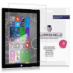 iLLumiShield - Microsoft Surface 3 10.8 Screen Protector with Lifetime Replacement Warranty - Japanese Ultra Clear HD Film with Anti-Bubble and Anti-Fingerprint - High Quality (Invisible) LCD Shield - [2-Pack] OEM - Retail Packaging