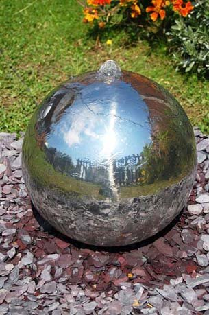 Ean 5055372398274 Wf3143pnr Polished 120cm 47ins Stainless Steel Sphere Water Feature Led