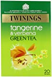 Twinings Tangerine and Verbena Green Tea Bags 40 g 20 Tea Bags (packs of 4 total 80 teabags)