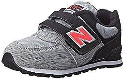 New Balance KG574I Sweatshirt Running Shoe (Infant/Toddler), Silver/Pink, 2 M US Infant