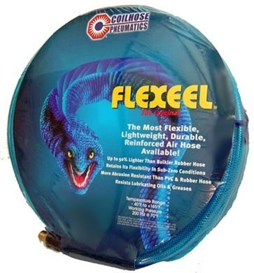 "Flexeel 1/4"" ID x 100' Length, Air Hose with End"