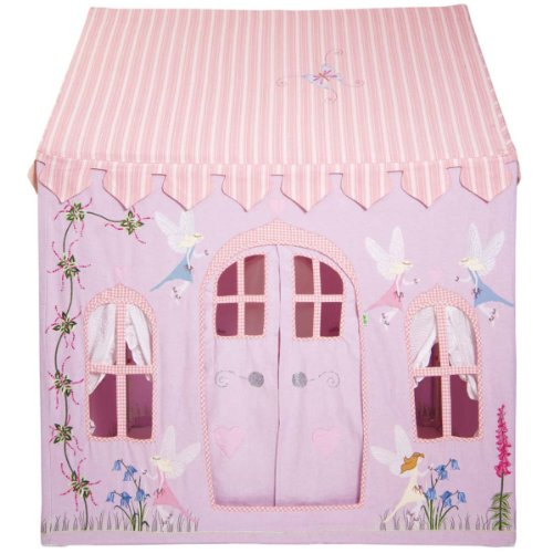 Large Fairy Cottage 100% Cotton Embroidered and Appliqued Playhouse
