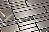 Stainless Steel Mosaic - Quadrant - 12x12'
