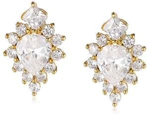 nOir Jewelry Diamond Shaped Cubic Zirconia Earrings
