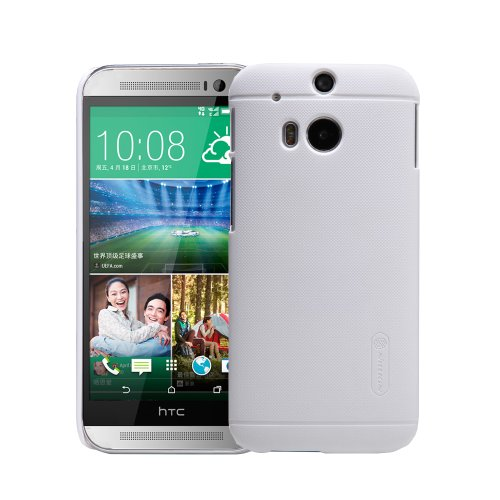 Moon Monkey Well-Selected Classical Grain Line Ultra-Thin Slim Cover Case For Htc One2/M8 (White)