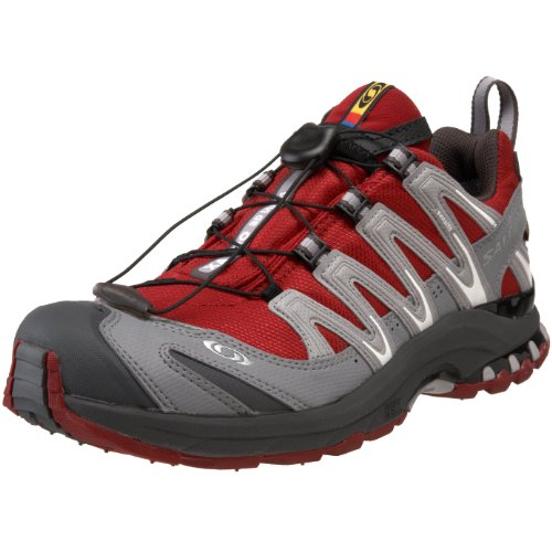 SALOMON XA Pro 3D Ultra GTX Ladies Trail Running Shoes, Grey/Red, UK5