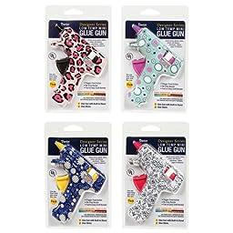 Darice & Catan Floral DAR10883 Glue Gun Low Temp Designer Print, Pack of 4