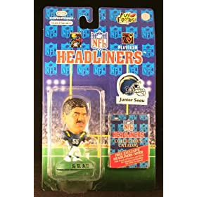 JUNIOR SEAU / SAN DIEGO CHARGERS * 3 INCH * 1996 NFL Headliners Football Collector Figure
