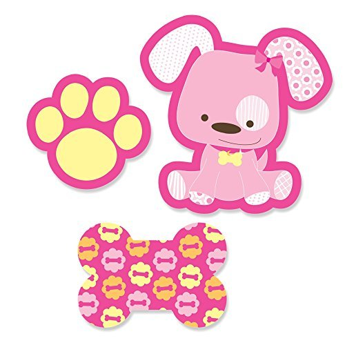 Girl Puppy Dog - Shaped Party DIY Cut-Outs - 24 Count