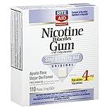 Rite Aid Pharmacy Stop Smoking Aid, 4 mg, Gum, Original, 110 pieces