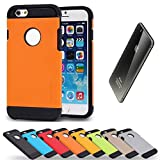 Spigen シュピゲン 正規品 TOUGH ARMOR iPhone 6 case 4.7 インチ 専用 ハード カバー ケース タフアーマー クッション 衝撃 吸収 本体 画面 保護 予約(オレンジ)