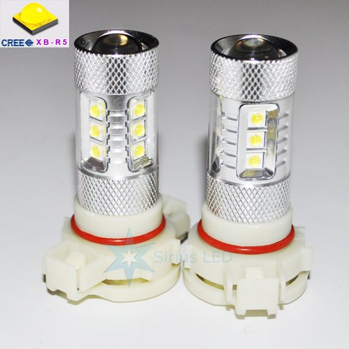2X Ultra Bright 80W Cree H16 5202 High Power Led Drl Daytime Running Fog Lights