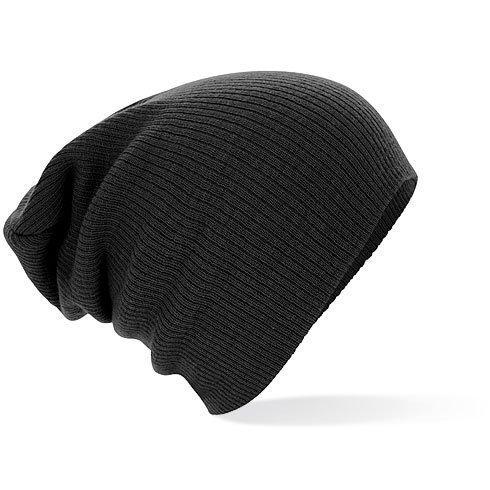 Beechfield Unisex Slouch Beanie Black One Size