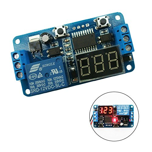 So-myshtech DC 12V LED Display Digital Delay Timer Control Switch Module PLC Automation (Led Module Display compare prices)