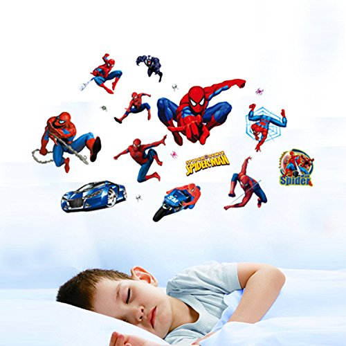 Very Boy Have A Dream Be Spiderman Wall Stickers For Kids Room Zooyoo Decorative Adesivo De Parede Removable Pvc Wall Decal 09