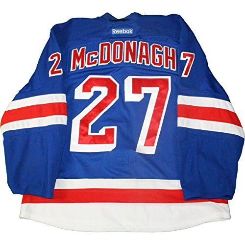 Ryan Mcdonagh C New York Rangers 2015-2016 Season Authenticated Game Used #27 Playoffs Round 1 Blue Jersey Size 58