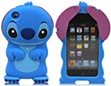 Disney 3D Cute Soft Silicone Cover Cases for Ipod Touch 4th generation (Stitch & Lilo Style -05)