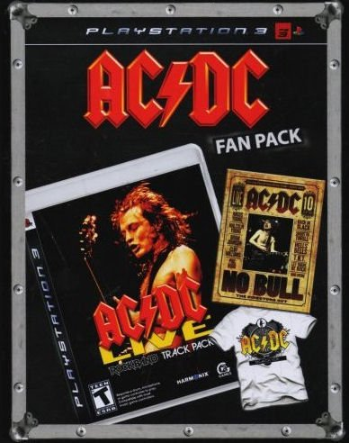 "AC/DC Fan Pack: Includes Playstation 3 Edition of ""AC/DC Live: Rock Band Track Pack,"" DVD of ""No Bull: The Director's Cut,"" and AC/DC Black Ice Logo T-Shirt"